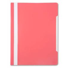 Папка-скоросшиватель Бюрократ -PS20PINK (A4, прозрачный верхний лист, пластик, розовый) [PS20PINK]