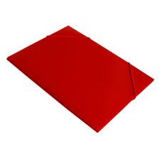 Папка на резинке Бюрократ -PR05RED (A4, пластик, толщина пластика 0,5мм, ширина корешка 30мм, красный) [PR05RED]