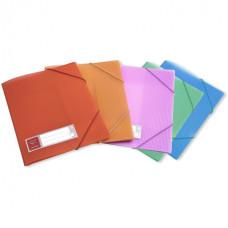 Папка на резинке Бюрократ Crystal -CR510 (A4, пластик, толщина пластика 0,5мм, ширина корешка 30мм, ассорти) [CR510]