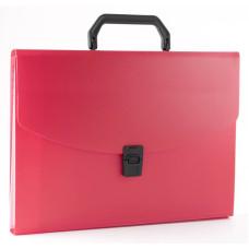 Портфель Бюрократ BPP6RED (6 отделений, A4, пластик, 0,7мм, красный) [BPP6RED]