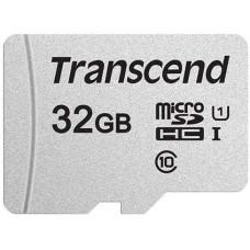Карта памяти microSDHC 32Гб Transcend (Class 10, 95Мб/с, UHS-I U1, без адаптера) [TS32GUSD300S]