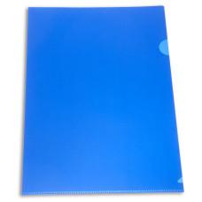 Папка-уголок Бюрократ -E310N/1BLU (A4, пластик, непрозрачный, толщина пластика 0,18мм, синий) [E310N/1BLU]