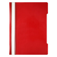 Папка-скоросшиватель Бюрократ Economy -PSE20RED (A4, прозрачный верхний лист, пластик, красный) [PSE20RED]