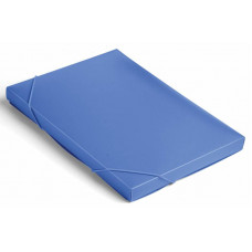 Папка-короб Бюрократ BA25/05BLUE (A4, пластик, толщина пластика 0,5мм, на резинке, ширина корешка 25мм, синий) [BA25/05BLUE]
