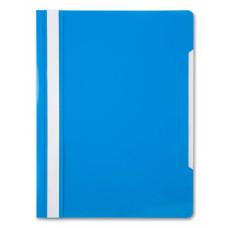 Папка-скоросшиватель Бюрократ -PS20AZURE (A4, прозрачный верхний лист, пластик, голубой) [PS20AZURE]