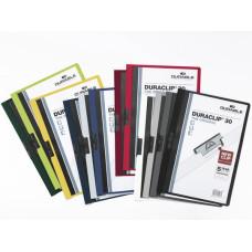 Папка с клипом Durable Duraclip 2200-31 (верхний лист прозрачный, A4, вместимость 1-30 листов, бордовый) [2200-31]