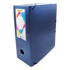 Папка архивная Silwerhof 311915-74 (A4, полипропилен, толщина пластика 1мм, на резинке, ширина корешка 100мм, синий металлик) [311915-74]