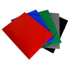Папка на резинке Бюрократ PR05 (A4, пластик, толщина пластика 0,5мм, ширина корешка 30мм, ассорти) [PR05]