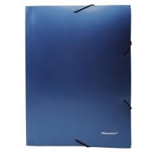 Папка на резинке Silwerhof Perlen 311918-74 (A4, полипропилен, песок, толщина пластика 0,6мм, синий металлик) [311918-74]