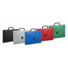 Портфель Бюрократ BPP01 (A4, отделений 1, пластик, толщина пластика 0,7мм, ассорти) [BPP01]