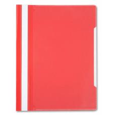 Папка-скоросшиватель Бюрократ -PS20RED (A4, прозрачный верхний лист, пластик, красный) [PS20RED]