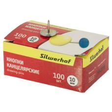 Кнопки Silwerhof 500007 (эмаль цветная, 100шт) [500007]