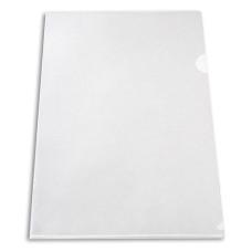 Папка-уголок Бюрократ -EE310/1CLEAR (A4, пластик, толщина пластика 0,15мм, прозрачный) [EE310/1CLEAR]