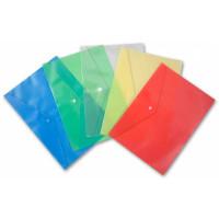 Конверт на кнопке Бюрократ -PK804A5/1 (A5, пластик, толщина пластика 0,18мм, ассорти) [PK804A5/1]