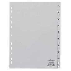 Разделитель индексный Durable 6511-10 (A4, пластик, кол-во индексов 10, тип индексов 1-10, серые) [6511-10]