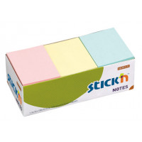Блок самоклеящийся Hopax 21004 (бумага, 38x51мм, 100листов, 70г/м2, 3цветов) [21004]