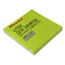 Блок самоклеящийся Silwerhof 682161-06 (зеленый, 76x76) [682161-06]