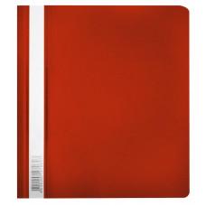 Папка-скоросшиватель Бюрократ Люкс -PSL20A5RED (A5, прозрачный верхний лист, пластик, красный) [PSL20A5RED]