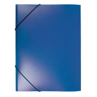 Папка на резинке Buro PRB04BLUE (A4, пластик, толщина пластика 0,5мм, ширина корешка 15мм, синий) [PRB04BLUE]