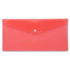 Конверт на кнопке Бюрократ -PK805ARED (пластик, толщина пластика 0,18мм, красный) [PK805ARED]
