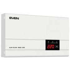 Стабилизатор напряжения SVEN AVR SLIM 500 LCD [SV-012809]