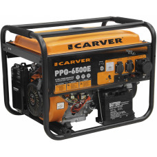 Электрогенератор Carver PPG-6500E (пуск ручной, электрический, 5,5/5кВт, 220В) [01.020.00005]