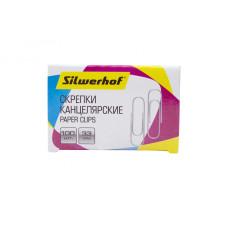 Скрепки Silwerhof 491038 (металл, оцинкованные, 100шт) [491038]