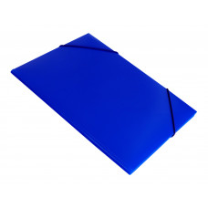 Папка на резинке Бюрократ -PR05BLU (A4, пластик, толщина пластика 0,5мм, ширина корешка 30мм, синий) [PR05BLU]