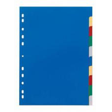 Разделитель индексный Durable 6740-27 (A4, пластик, цветные) [6740-27]