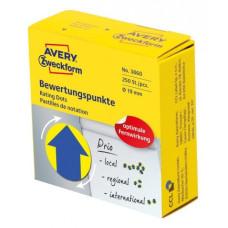 Этикетки Avery Zweckform (желтый, накл: 250шт, 19мм) [3860]