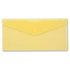 Конверт на кнопке Бюрократ -PK805AYEL (пластик, толщина пластика 0,18мм, желтый) [PK805AYEL]