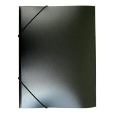 Папка на резинке Buro PRB04BLACK (A4, пластик, толщина пластика 0,5мм, ширина корешка 15мм, черный) [PRB04BLACK]