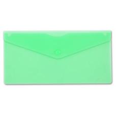 Конверт на кнопке Бюрократ PK805AGRN (пластик, толщина пластика 0,18мм, зеленый) [PK805AGRN]