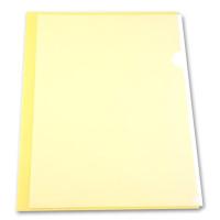 Папка-уголок Бюрократ Economy -E100YEL (A4, пластик, тисненый, толщина пластика 0,1мм, желтый) [E100YEL]