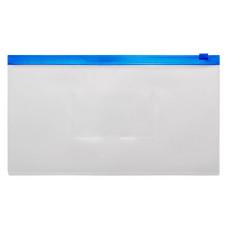 Папка на молнии ZIP Бюрократ -BPM6ABLUE (полипропилен, толщина пластика 0,15мм, молния синий) [BPM6ABLUE]