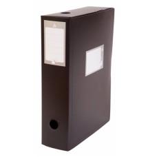 Короб архивный Бюрократ BA80 (80мм, пластик, вырубная застежка) [BA80/08BLCK]