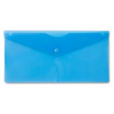 Конверт на кнопке Бюрократ PK805ABLU (пластик, толщина пластика 0,18мм, синий) [PK805ABLU]