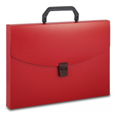 Портфель Бюрократ BPP01RED (A4, отделений 1, пластик, толщина пластика 0,7мм, красный) [BPP01RED]