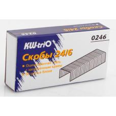 Скобы для степлера Kw-Trio 0246 (тип 24/6, 1000шт) [0246]