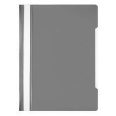 Папка-скоросшиватель Бюрократ Economy -PSE20GREY (A4, прозрачный верхний лист, пластик, серый) [PSE20GREY]