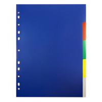 Разделитель индексный Бюрократ ID114E (A4, пластик, кол-во индексов 5, цветные) [ID114E]