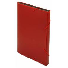 Портфель Бюрократ -BPR6RED (6 отделений, A4, пластик, 0,7мм, красный) [BPR6RED]