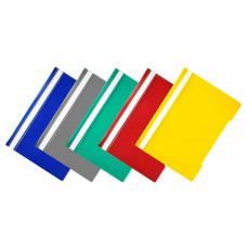 Папка-скоросшиватель Бюрократ Economy -PSE20/1 (A4, прозрачный верхний лист, пластик, ассорти) [PSE20/1]