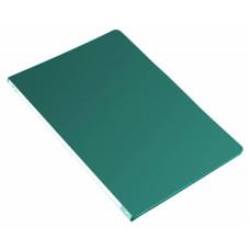 Папка с зажимом Бюрократ -PZ05CGREEN (зажимов 1, A4, пластик, толщина пластика 0,5мм, торцевая наклейка, зеленый) [PZ05CGREEN]