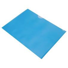 Папка-уголок Бюрократ EE310/1BLUA5 (A5, пластик, толщина пластика 0,15мм, синий) [EE310/1BLUA5]