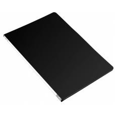 Папка с зажимом Бюрократ -PZ05PBLCK (зажимов 1, A4, пластик, толщина пластика 0,5мм, торцевая наклейка, черный) [PZ05PBLCK]
