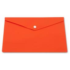 Конверт на кнопке Бюрократ PK804A5NOR (A5, пластик, непрозрачный, толщина пластика 0,18мм, оранжевый) [PK804A5NOR]