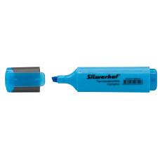 Текстовыделитель Silwerhof 108036-07 (скошенный пишущий наконечник, толщина линии 1-5мм, голубой) [108036-07]