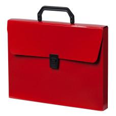 Портфель Бюрократ DeLuxe DLPP01RED (A4, отделений 1, пластик, толщина пластика 0,7мм, красный) [DLPP01RED]