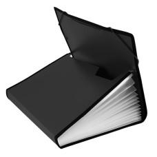 Портфель Бюрократ -BPR13LBLCK (13 отделений, A4, пластик, с окантовкой, 0,7мм, черный) [BPR13LBLCK]